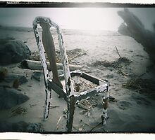 Chair on Chinook Beach by Alice Schuerman