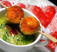 Leek Soup and Crumbed Sausage Sticks by SmoothBreeze7