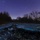 Deserted Highway After Dark by Mark Van Scyoc