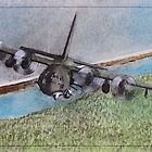 Protect the ground troops, Air Gun Ship C130 by David M Scott