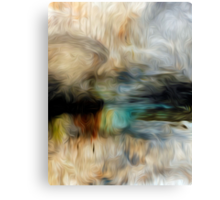 Abstract Colors Oil Painting #74 Canvas Print