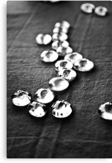 Glass beads in black & white by Heather  McCann