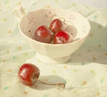 Cherries in a cup still life photography by Svetlana  Novikova