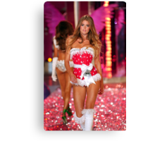 Victoria's Secret model Doutzen Kroes walks the runway Canvas Print