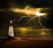 lightning storm by meirionmatthias