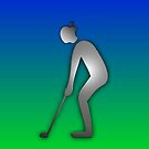 "GOLF iphone golfer ""Appleman"" by ALIANATOR"