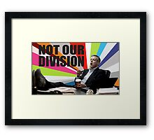 Sherlock - Not our division Framed Print