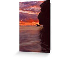 Dusk over Monkey Island Greeting Card