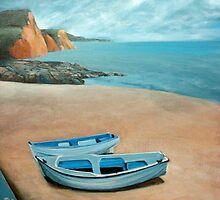 Mevagissey beach by Carole Russell