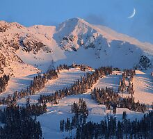Blackcomb mountain at sunset by Pierre Leclerc