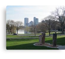 Milwaukee Skyline Cityscape Canvas Print