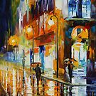 CITY OF RAIN - LEONID AFREMOV by Leonid  Afremov