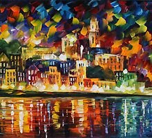FIESTA IN THE HARBOR - LEONID AFREMOV by Leonid  Afremov