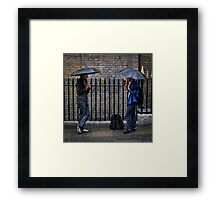 Pissing it Down - London Framed Print