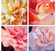Heart of a Rose Collage by Jan Lawnikanis