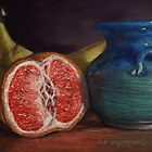 Grapefruit Still Life Pastel Painting by Sue Deutscher