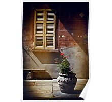 Vase, window and shadows Poster