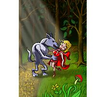 Wolf Kissing Red Riding Hood Photographic Print