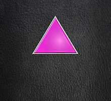 Pink Triangle on Leather by x-pressions