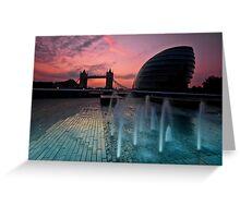 Southbank Sunrise: Tower Bridge & City Hall Greeting Card