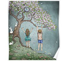 falling blossoms Poster