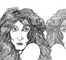 Kate Bush reflection print by Grant Wilson