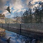 Vulcan over Howden Dam by Martin Jones