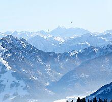 Snow Covered Alpine View by Paul Mayall