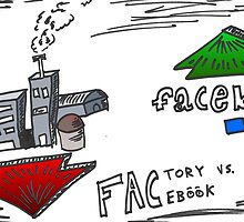 FACtory vs FACebook binary options cartoon by Binary-Options