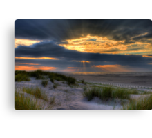 Ainsdale Sunset  Canvas Print