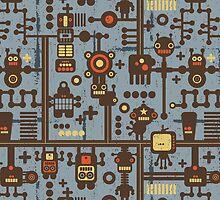 Robots blue. by Ekaterina Panova