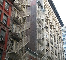 Classic Fire Escapes, New York, Flatiron District by lenspiro