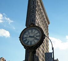 Classic Clock, Flatiron Building, New York by lenspiro