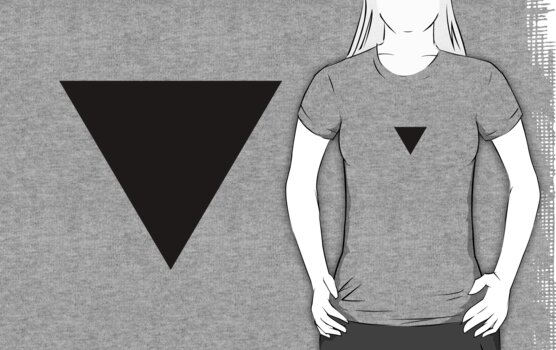 Black Triangle Shirt by x-pressions