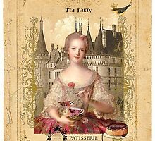 Tea Party. Vintage Card. by Vitta