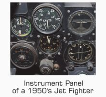 Instrument Panel of a 1950's Jet Fighter by Geoffrey Higges