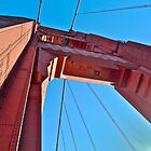 Here&#x27;s Looking Up The Golden Gate Bridge Tower by Scott Johnson