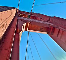 Here's Looking Up The Golden Gate Bridge Tower by Scott Johnson