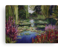 Monet's Lily Pond Canvas Print