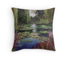Monet's Lily Pond Throw Pillow