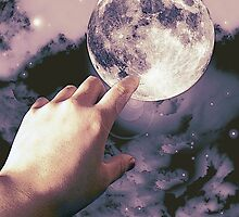 Reaching for the moon! by Abie Davis