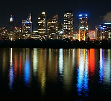 Sydney CBD at Night by Ross Campbell
