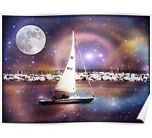 Moonlight sailing © Poster