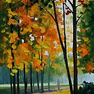 HOT NOON IN THE FOREST - LEONID AFREMOV by Leonid  Afremov