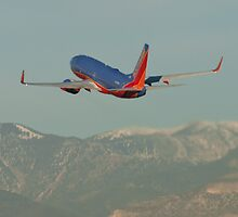 N262WN Southwest Airlines Boeing 737-7H4 Take Off by Henry Plumley