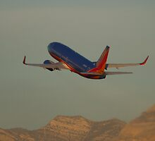 N361SW Southwest Airlines Boeing 737-7H4 Take Off by Henry Plumley
