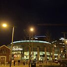 Waterfront Hall under moonlight, Belfast by Chris Millar
