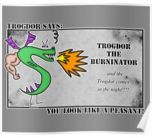 Trogdor the Burninator - Peasants Poster