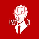 Hetalia - Keep Calm and Carry On (Red) by shoelaces