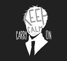 Hetalia - Keep Calm and Carry On (Black) by shoelaces